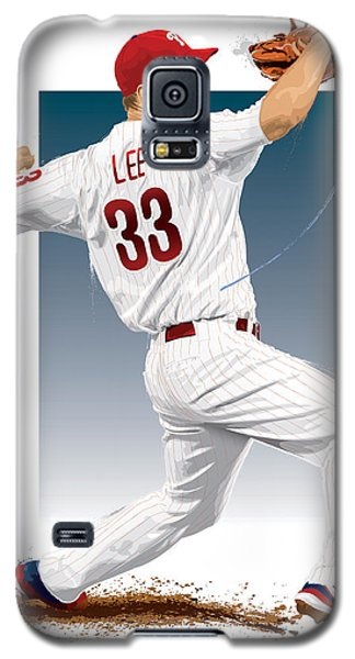 Galaxy S5 Case featuring the digital art Cliff Lee by Scott Weigner
