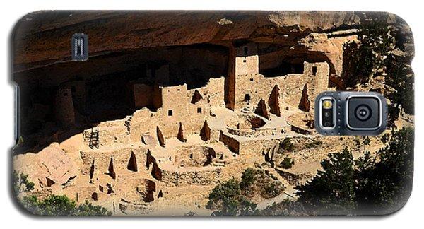 Cliff Palace At Mesa Verde National Park Anasazi Ruin Watercolor Digital Art Galaxy S5 Case by Shawn O'Brien