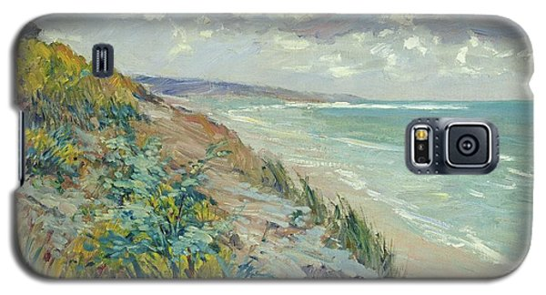 Landscapes Galaxy S5 Case - Cliffs By The Sea At Trouville  by Gustave Caillebotte
