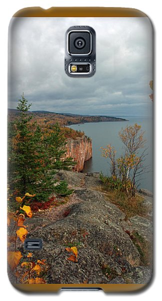 Galaxy S5 Case featuring the photograph Cliffside Fall Splendor by James Peterson