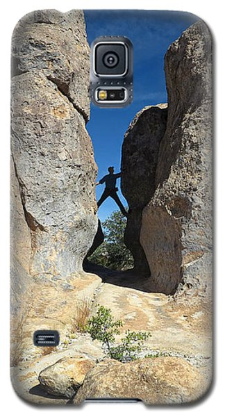 Galaxy S5 Case featuring the photograph Climber City Of Rocks by Martin Konopacki