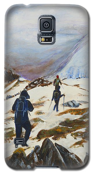 Climbers - Painting Galaxy S5 Case by Veronica Rickard