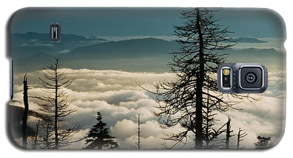 Galaxy S5 Case featuring the photograph Clingman's Dome Sea Of Clouds - Smoky Mountains by Mountains to the Sea Photo
