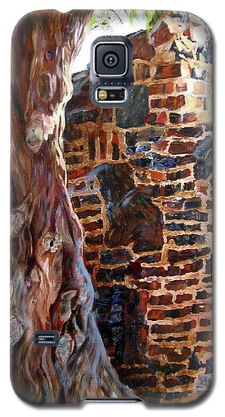 Galaxy S5 Case featuring the painting Clinker Wall by LaVonne Hand