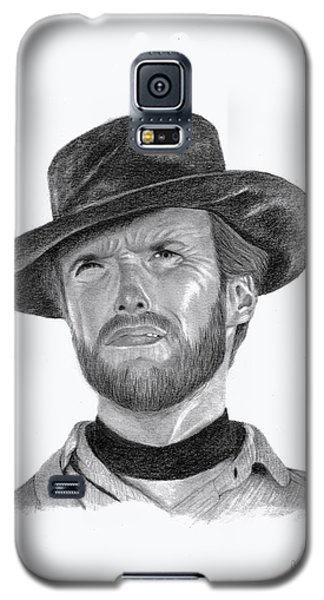 Galaxy S5 Case featuring the drawing Clint Eastwood by Patricia Hiltz