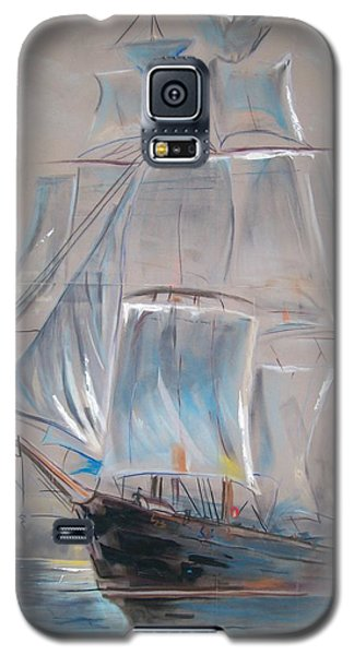 Galaxy S5 Case featuring the mixed media Clipper In Mist by Peter Suhocke
