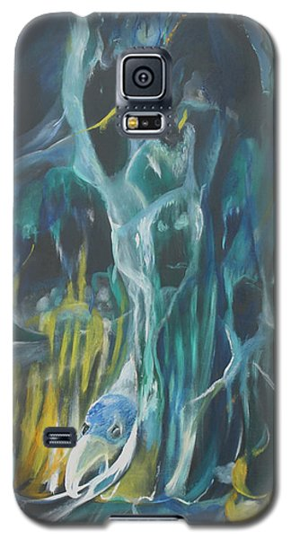Galaxy S5 Case featuring the painting Cloak Of The Ghoul by Christophe Ennis