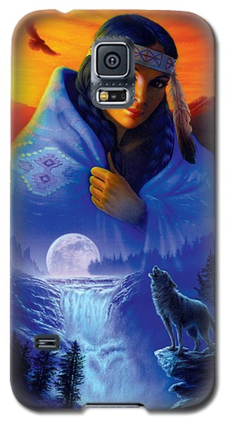 Cloak Of Visions Portrait Galaxy S5 Case by Andrew Farley