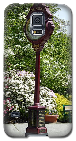 Galaxy S5 Case featuring the photograph Clock In Park by Laurie Tsemak