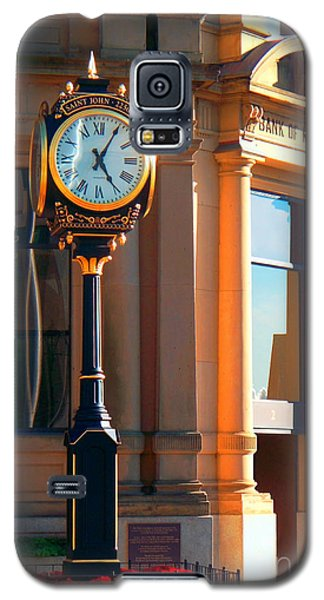Galaxy S5 Case featuring the photograph Clock Of New Brunswick by Gena Weiser
