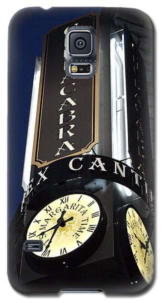 Galaxy S5 Case featuring the photograph Clock Sign Chupacabra Cantina by James Granberry