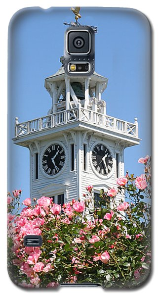 Clock Tower And Roses Galaxy S5 Case