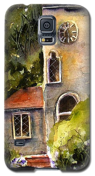 Galaxy S5 Case featuring the painting Clock Tower England by Marti Green