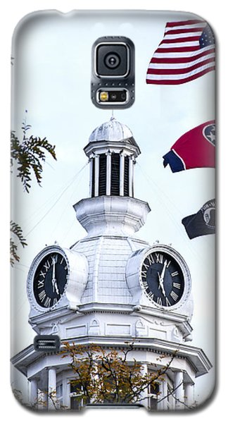 Clock Tower With Tennessee Mia Us Flag Art Galaxy S5 Case