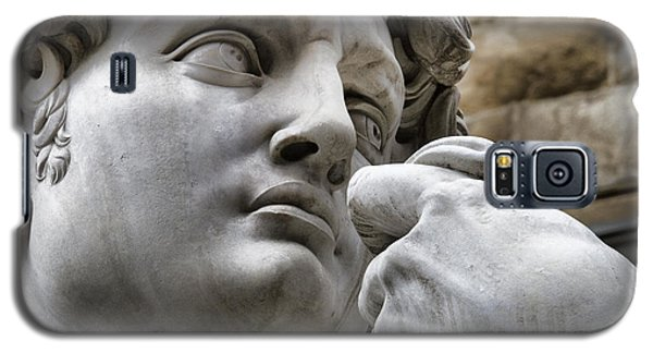 Close-up Face Statue Of David In Florence Galaxy S5 Case