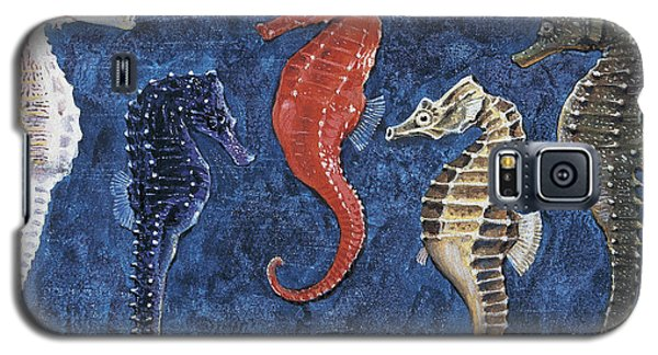Close-up Of Five Seahorses Side By Side  Galaxy S5 Case by English School