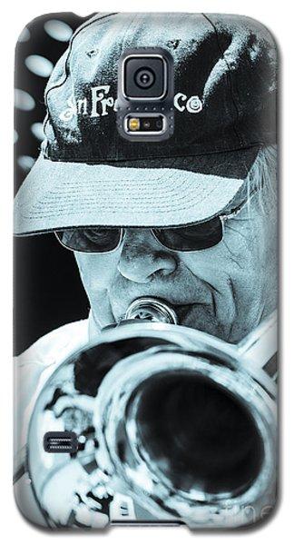 Close Up Of Male Trombone Player In Baseball Cap Galaxy S5 Case