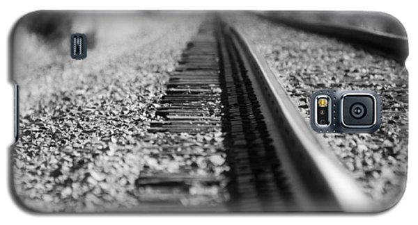 Close Up Of Rail Road Tracks Galaxy S5 Case
