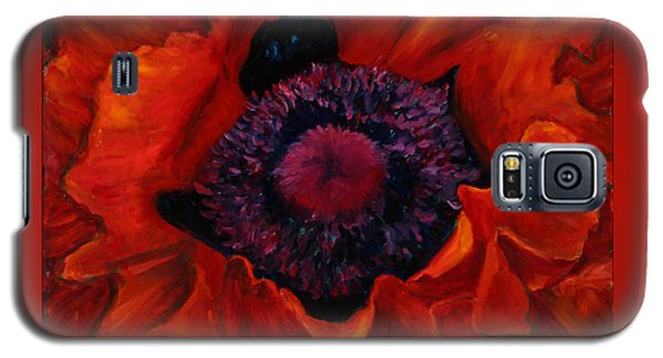 Close Up Poppy Galaxy S5 Case