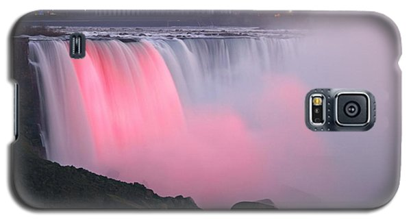 Close Up Rainbow Falls Lit At Night Galaxy S5 Case