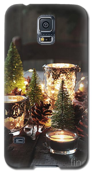 Closeup Of Candles And Decorations For The Holidays Galaxy S5 Case