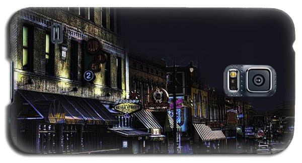 Memphis - Night - Closing Time On Beale Street Galaxy S5 Case