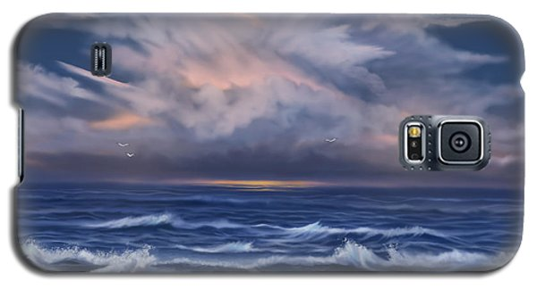 Galaxy S5 Case featuring the painting Cloud Burst by Sena Wilson