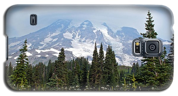 Cloud Capped Rainier Galaxy S5 Case by Tikvah's Hope