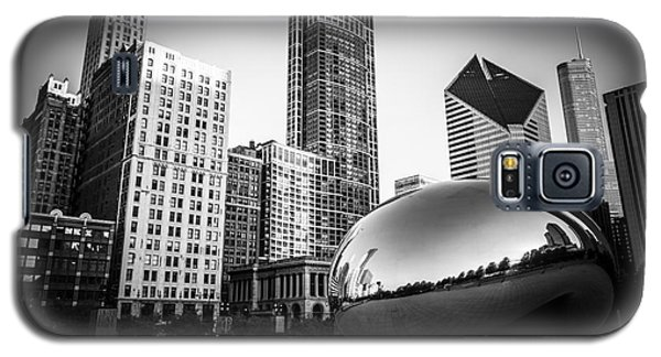 Cloud Gate Bean Chicago Skyline In Black And White Galaxy S5 Case