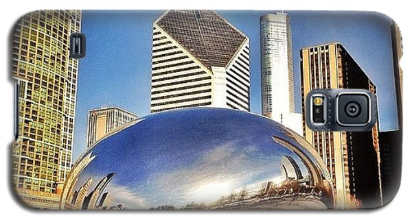 Cloud Gate chicago Bean Sculpture Galaxy S5 Case by Paul Velgos