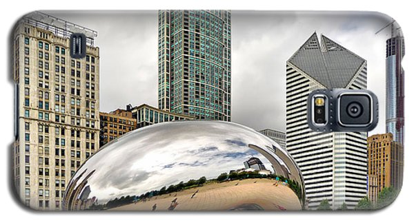 Cloud Gate In Chicago Galaxy S5 Case by Mitchell R Grosky