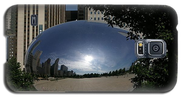 Galaxy S5 Case featuring the photograph Cloud Gate by Tannis  Baldwin
