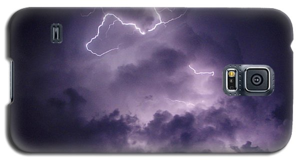 Galaxy S5 Case featuring the photograph Cloud Lightning by James Peterson