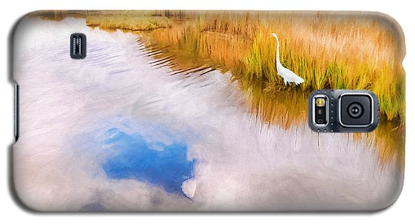 Cloud Reflection In Water Digital Art Galaxy S5 Case