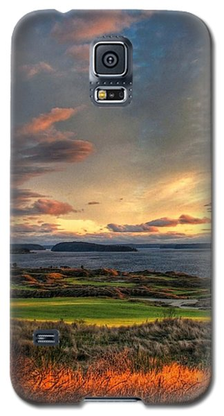 Cloud Serenity - Chambers Bay Golf Course Galaxy S5 Case by Chris Anderson