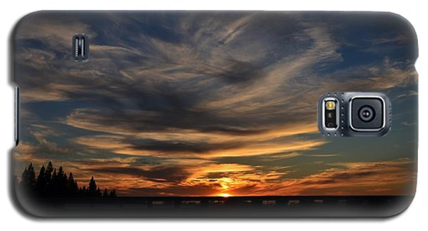 Cloud Swirl Sunset Galaxy S5 Case