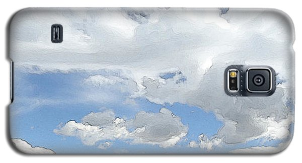 Galaxy S5 Case featuring the photograph Cloud Topography Blue by Ann Johndro-Collins