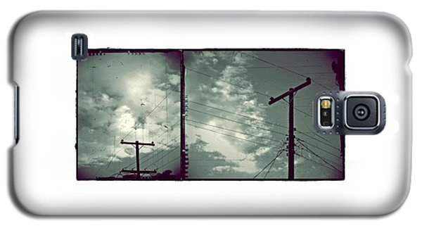 Clouds And Power Lines Galaxy S5 Case by Patricia Strand