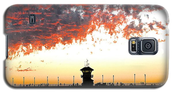 Galaxy S5 Case featuring the photograph Clouds On Fire by Margie Amberge