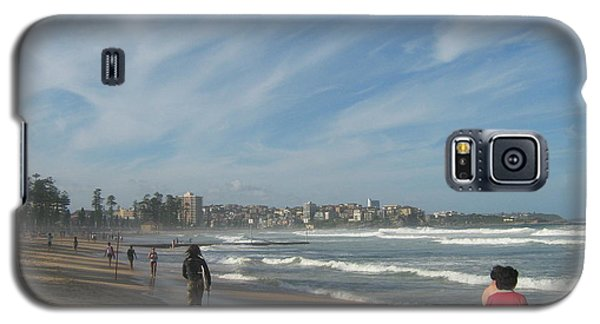 Galaxy S5 Case featuring the photograph Clouds Over Manly Beach by Leanne Seymour