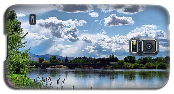 Clouds Over The River Galaxy S5 Case by Lynn Hopwood