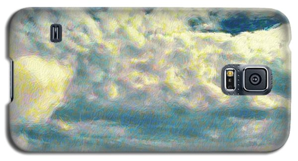 Clouds With Yellow Flecks - Square Galaxy S5 Case