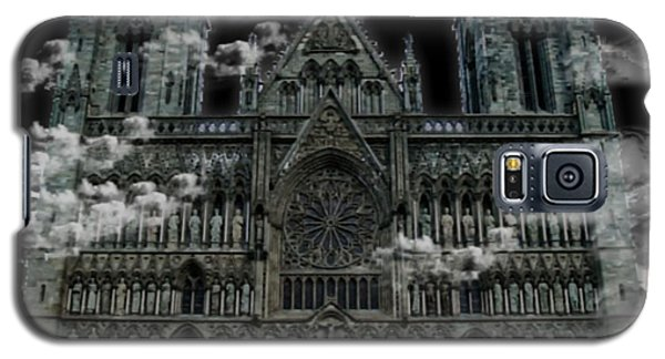 Galaxy S5 Case featuring the photograph Cloudy Cathedral by Digital Art Cafe
