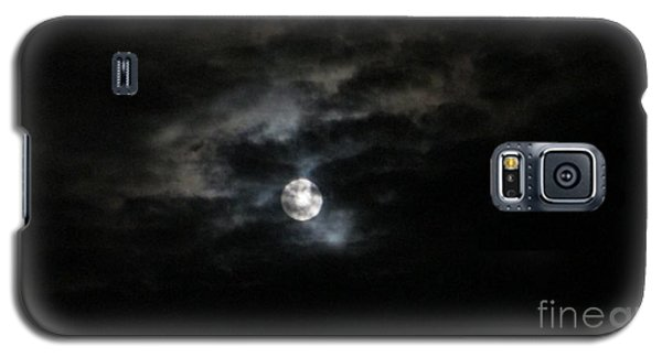 Night Time Cloudy Dark Moon Galaxy S5 Case by Barbara Yearty