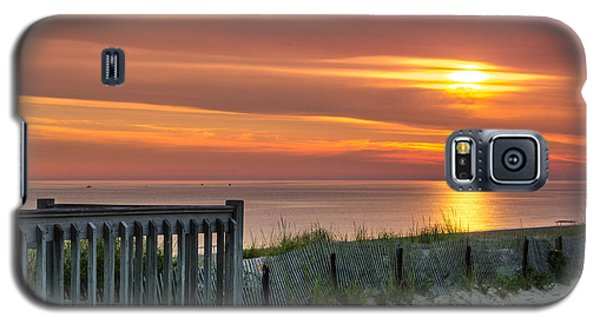 Galaxy S5 Case featuring the photograph Sandy Neck Beach Sunrise by Mike Ste Marie