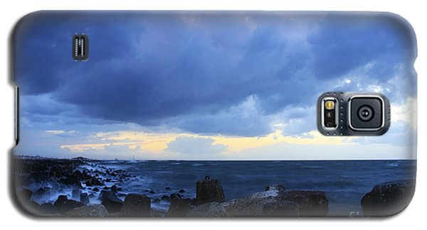Galaxy S5 Case featuring the photograph Cloudy Sky Over Sea by Mohamed Elkhamisy