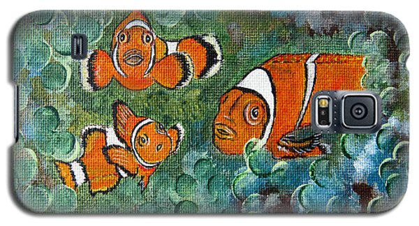 Clown Fish Art Original Tropical Painting Galaxy S5 Case