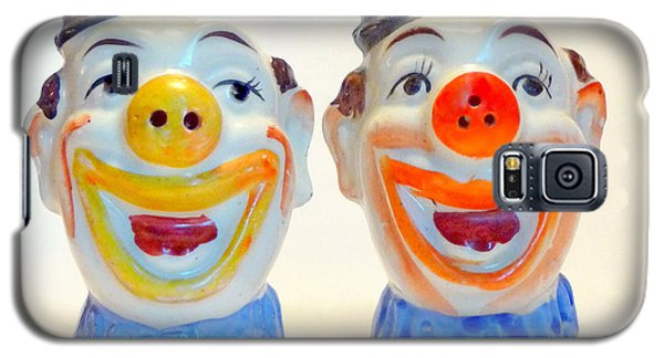 Galaxy S5 Case featuring the photograph Vintage Clown Salt And Pepper Shakers by Jim Whalen
