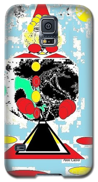Galaxy S5 Case featuring the digital art Clowning Around by Ann Calvo