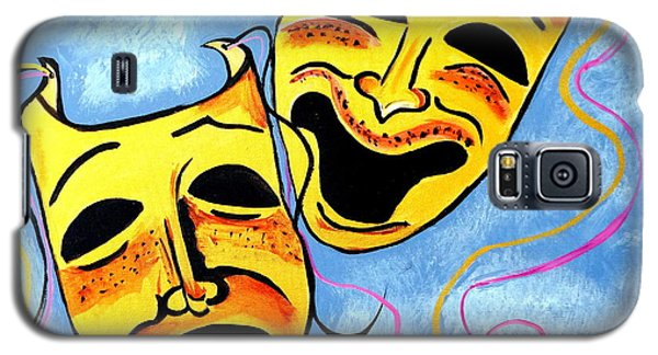 Galaxy S5 Case featuring the painting Comedy And Tragedy by Nora Shepley